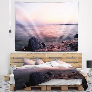 Designart 'Discontinued product' Beach Photo Wall Tapestry