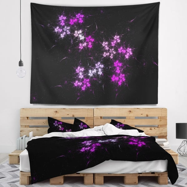 Designart 'Placer Stars in Distant Galaxy' Abstract Wall Tapestry
