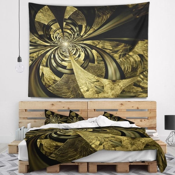 Designart 'Colorful Fractal Flower Pattern' Abstract Wall Tapestry