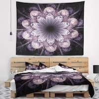 Designart 'Dark Pink Fractal Flower Pattern' Abstract Wall Tapestry