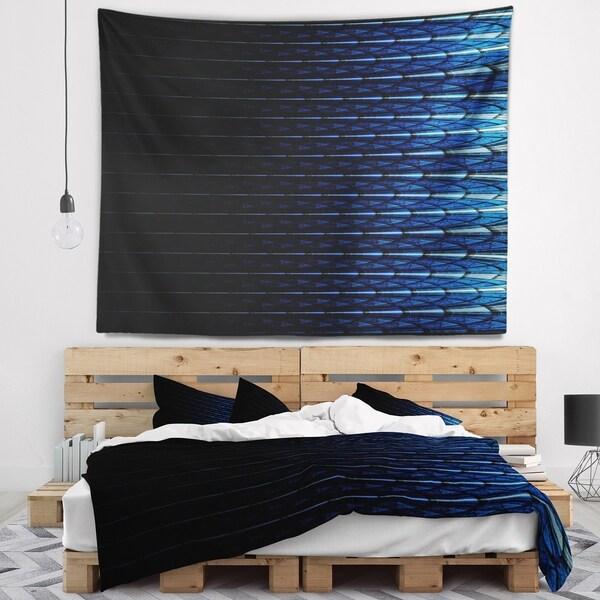 Designart 'Blue Symmetrical Fractal Flower' Abstract Wall Tapestry