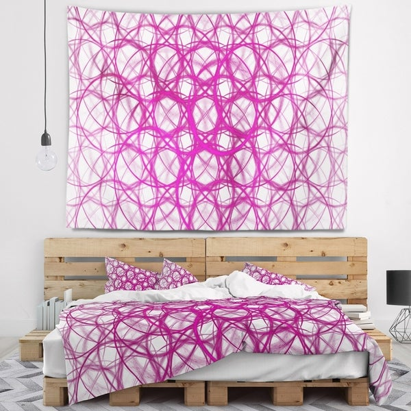 Designart 'Pink Unusual Metal Grill' Abstract Wall Tapestry