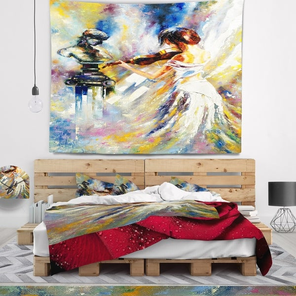 Designart 'Love with Endless Music' Abstract Wall Tapestry