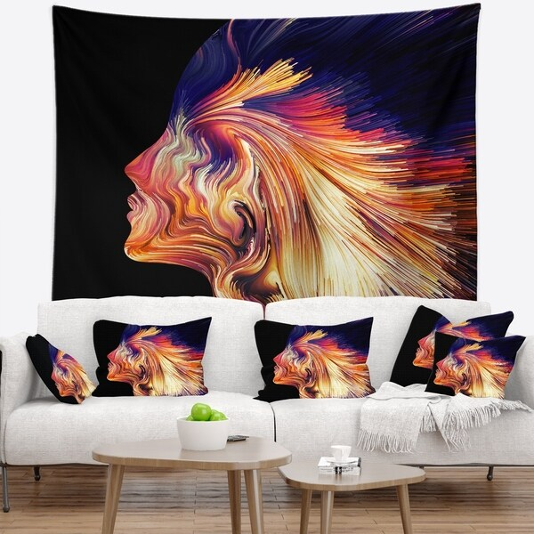 Designart 'Explosion of Thought' Abstract Wall Tapestry