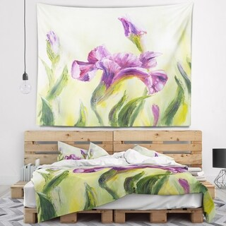 Designart 'Dancing Irises' Floral Wall Tapestry (2 options available)