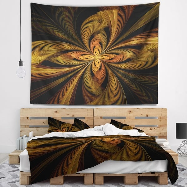 Designart 'Colorful Fractal Flower Pattern' Contemporary Wall Tapestry