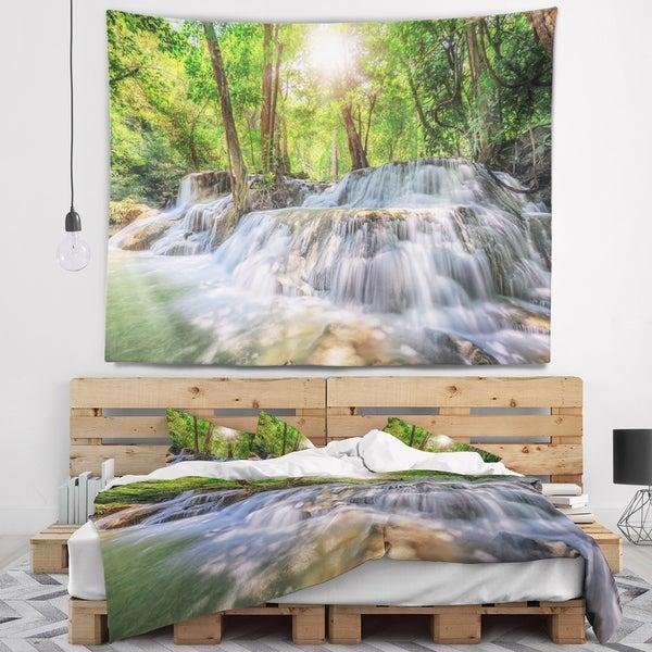 Designart 'Kanchanaburi Waterfall' Photography Wall Tapestry