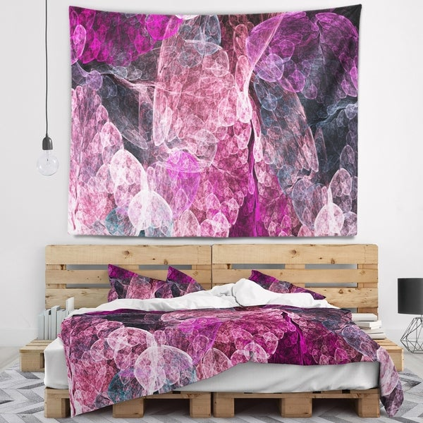 Designart 'Abstract Purple Fractal Illustration' Abstract Wall Tapestry