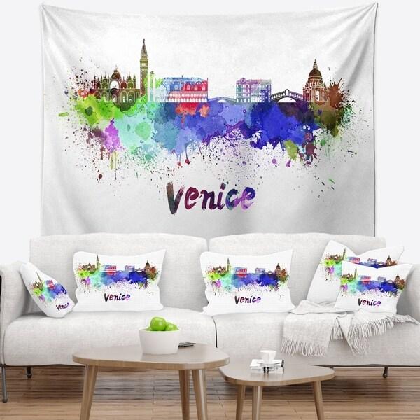 Designart 'Venice Skyline' Cityscape Wall Tapestry
