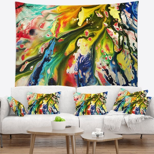 Designart 'Mixed Oil Color Texture' Abstract Wall Tapestry