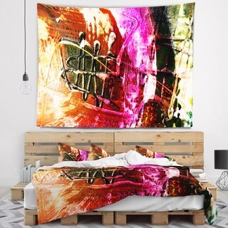 Designart 'Structure Abstract Art' Abstract Wall Tapestry