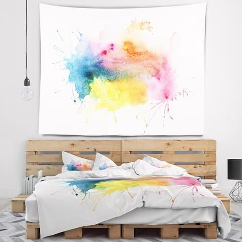 Designart 'Abstract Blots Aquarelle Art' Abstract Wall Tapestry