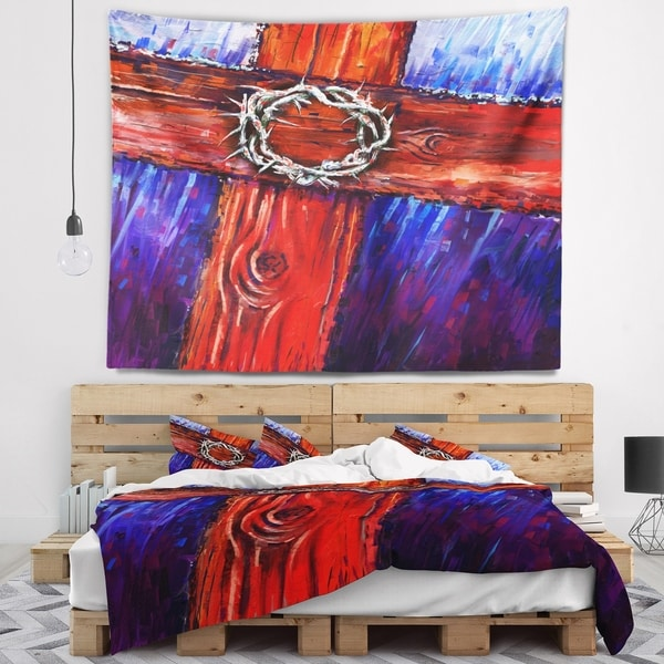 Designart 'Crown of Thorns' Abstract Wall Tapestry