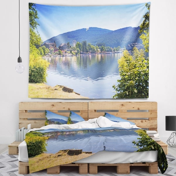 Designart 'Lake Titisee Black Forest Germany' Photography Wall Tapestry