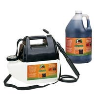Black Mulch Colorant with Battery Operated Sprayer Applicator