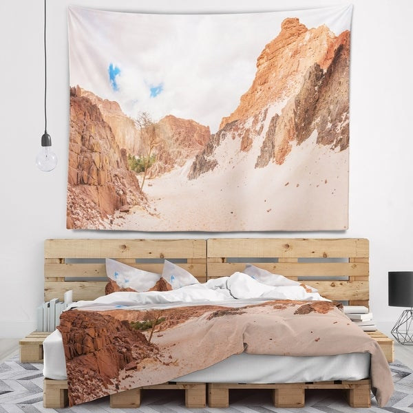 Designart 'Fantastic Panorama of White Canyon' Landscape Wall Tapestry