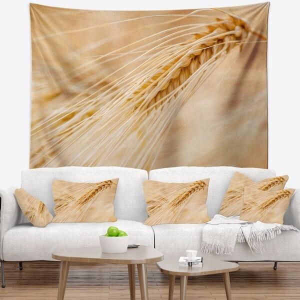 Designart 'Cereal Plants Barley' Floral Wall Tapestry