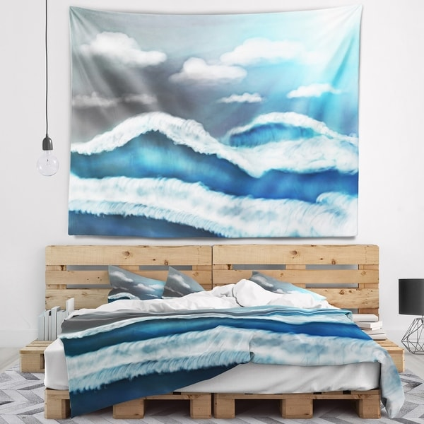 Designart 'Blue Sky with Clouds' Landscape Wall Tapestry