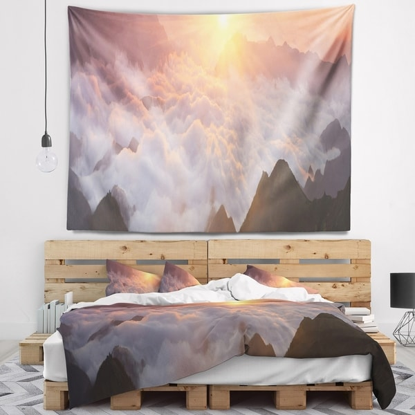 Designart 'Discontinued product' Contemporary Landscape Wall Tapestry