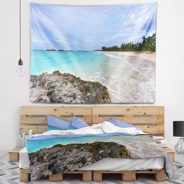 Designart 'Clearwater Beach Bermuda' Oversized Beach Wall Tapestry