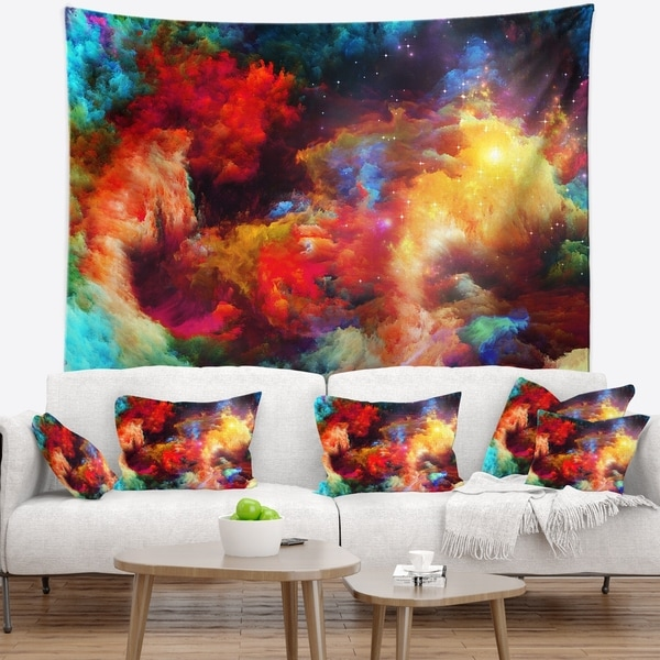 Designart 'Fractal Paint Fusion' Contemporary Wall Tapestry