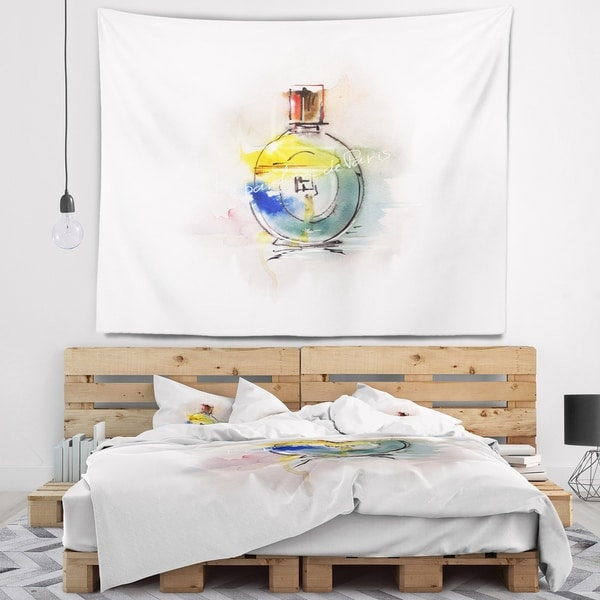 Designart 'Perfume Bottle' Contemporary Wall Tapestry
