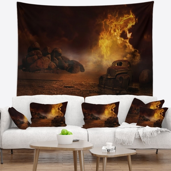 Designart 'Everything to End' Abstract Wall Tapestry