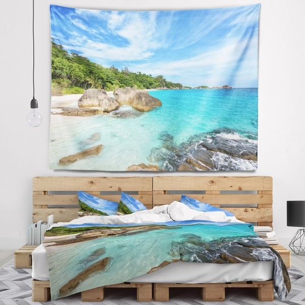 Designart 'Summer Sea in Thailand' Landscape Photography Wall Tapestry