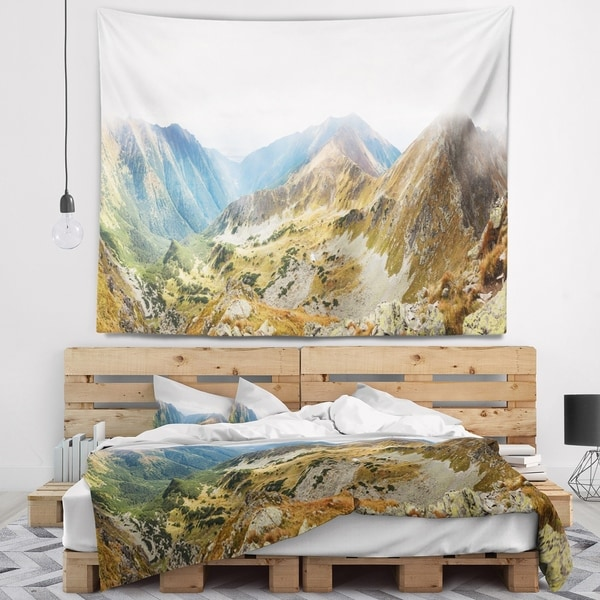 Designart 'Ostry Rohac and Placlive Peaks' Landscape Wall Tapestry