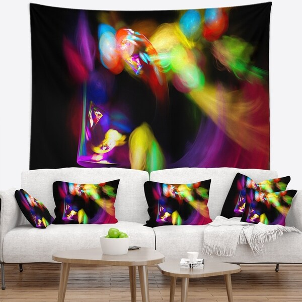 Designart 'Colorful Smoke Spiral' Abstract Wall Tapestry
