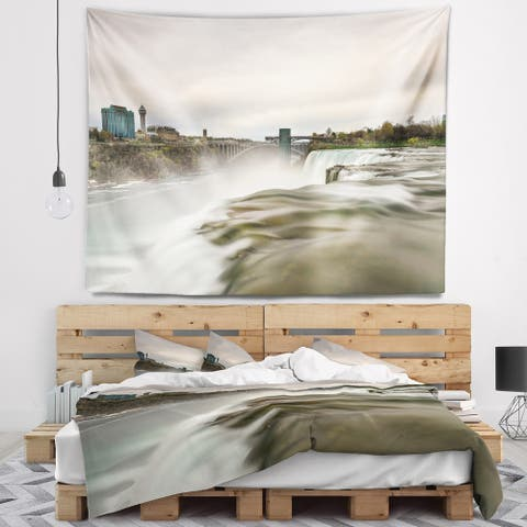 Designart 'Niagara Falls Goat Island View' Oversized Beach Wall Tapestry