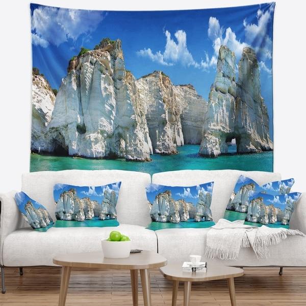 Designart 'Greek Holidays' Cityscape Photo Wall Tapestry