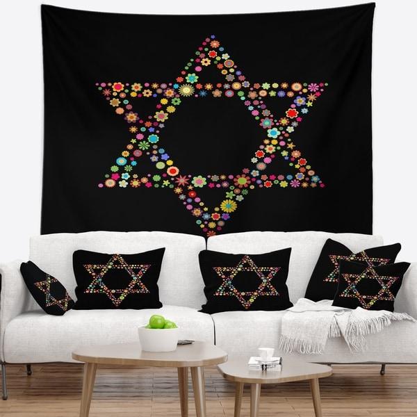 Designart 'Star of David Shape' Abstract Wall Tapestry