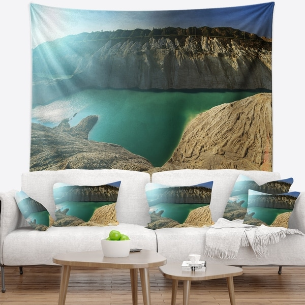 Designart 'Chalk Quarry in Belarus Panorama' Landscape Wall Tapestry