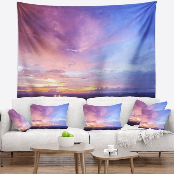 Designart 'Beautiful Sunset at Trang Thailand' Landscape Wall Tapestry