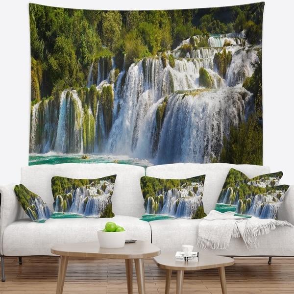 Designart 'Waterfall KRKA Panorama' Landscape Photography Wall Tapestry