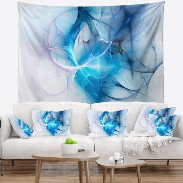 Designart 'Blue Nebula Star' Abstract Wall Tapestry