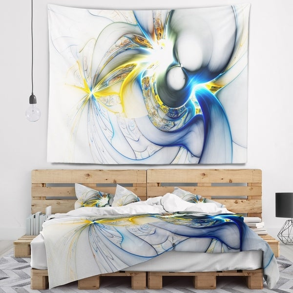 Designart 'Shining Multi Colored Plasma' Abstract Wall Tapestry