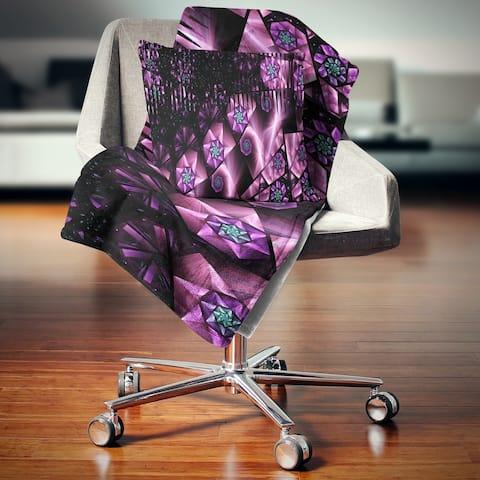 Designart 'Purple Radiance of Starry Sky' Abstract Throw Blanket
