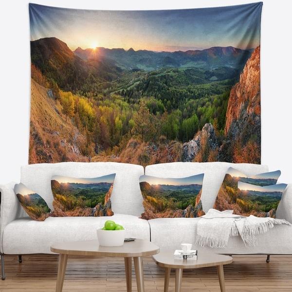 Designart 'Spring Forest Slovakia' Landscape Photography Wall Tapestry