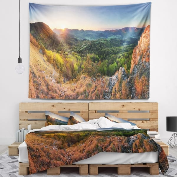 Designart Spring Forest Slovakia Landscape Photography Wall Tapestry Overstock 20921953