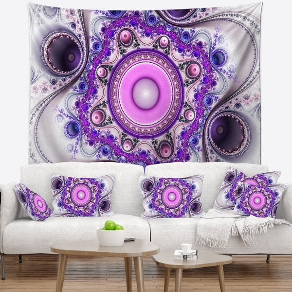Designart 'Strange Flower with Wavy Curves' Floral Wall Tapestry
