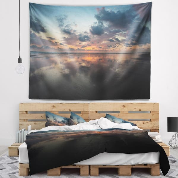 Designart Matapalo In Costa Rica Beach Sunset Seascape Wall Tapestry Overstock 20922003