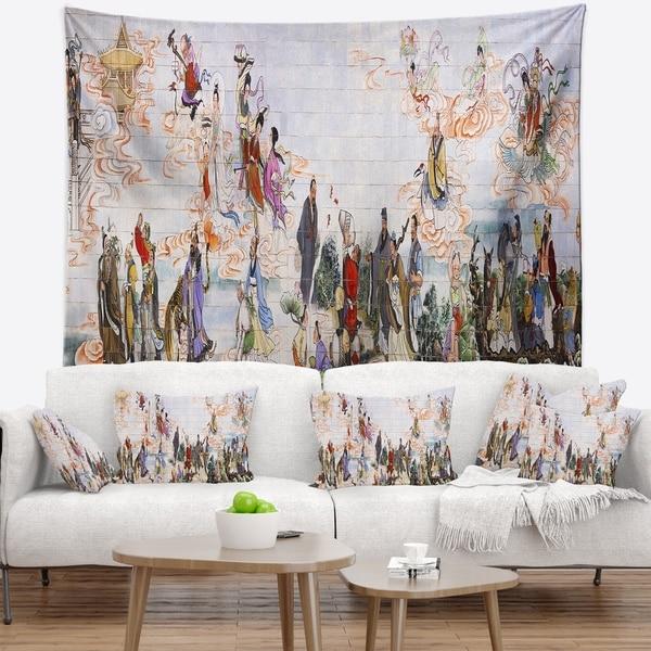 Designart 'Immortals' Floral Wall Tapestry