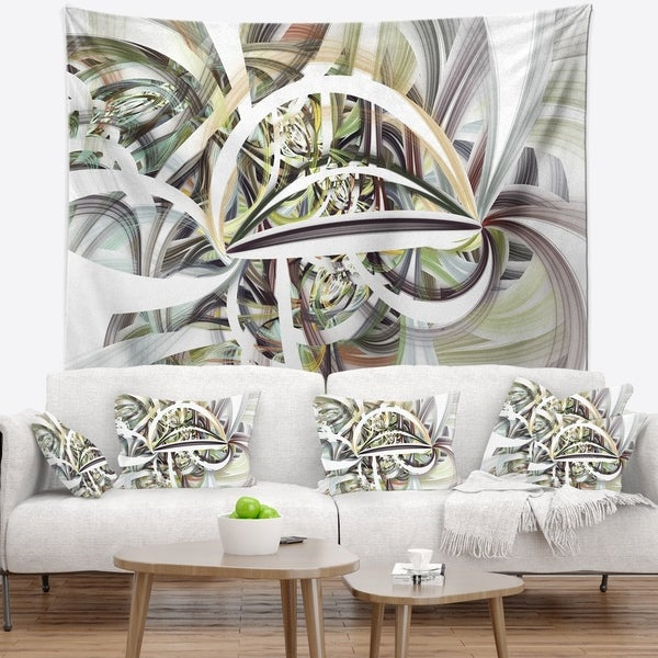 Designart 'Symmetrical Spiral Fractal Flowers' Abstract Wall Tapestry