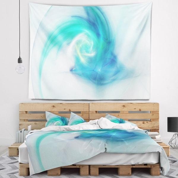 Designart 'Light Blue Fractal Abstract Texture' Abstract Wall Tapestry