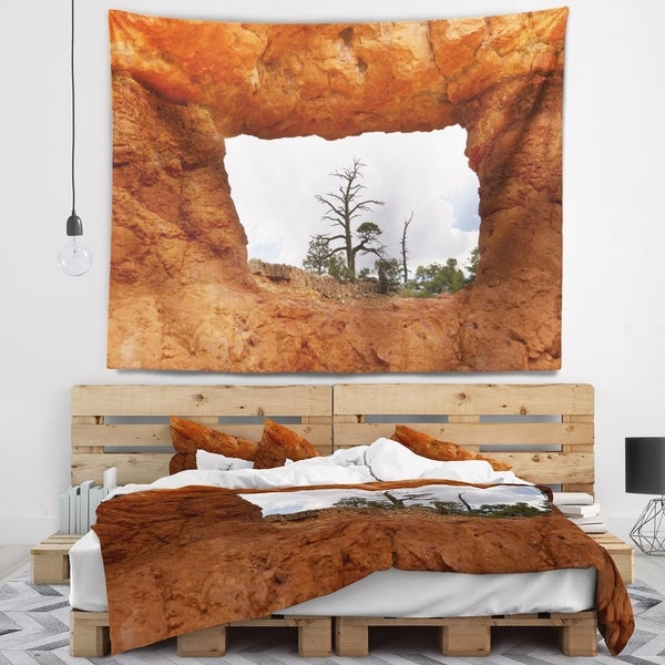 Designart 'Sky through Red Canyon Window' Contemporary Landscape Wall Tapestry