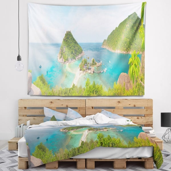Designart 'Tropical Island Panorama' Landscape Photography Wall Tapestry