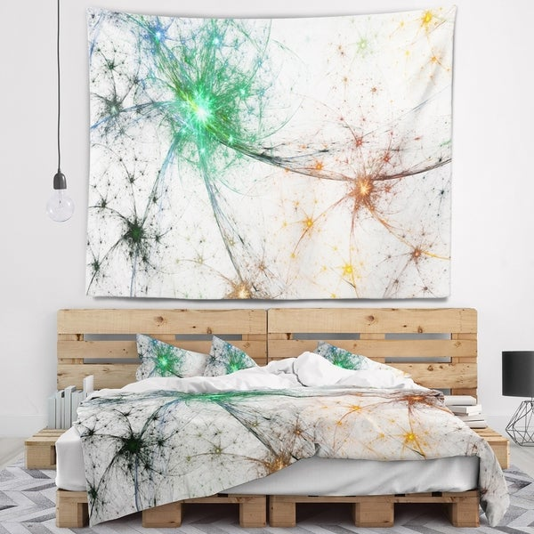 Designart 'Abstract Colorful Fireworks' Abstract Wall Tapestry