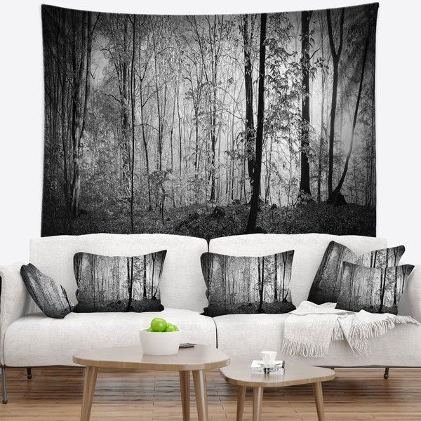 Designart 'Beautiful Forest Morning Panorama' Landscape Wall Tapestry